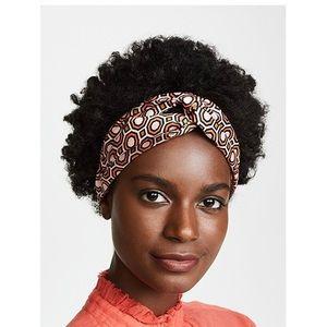 Tory Burch silk octagon print headband